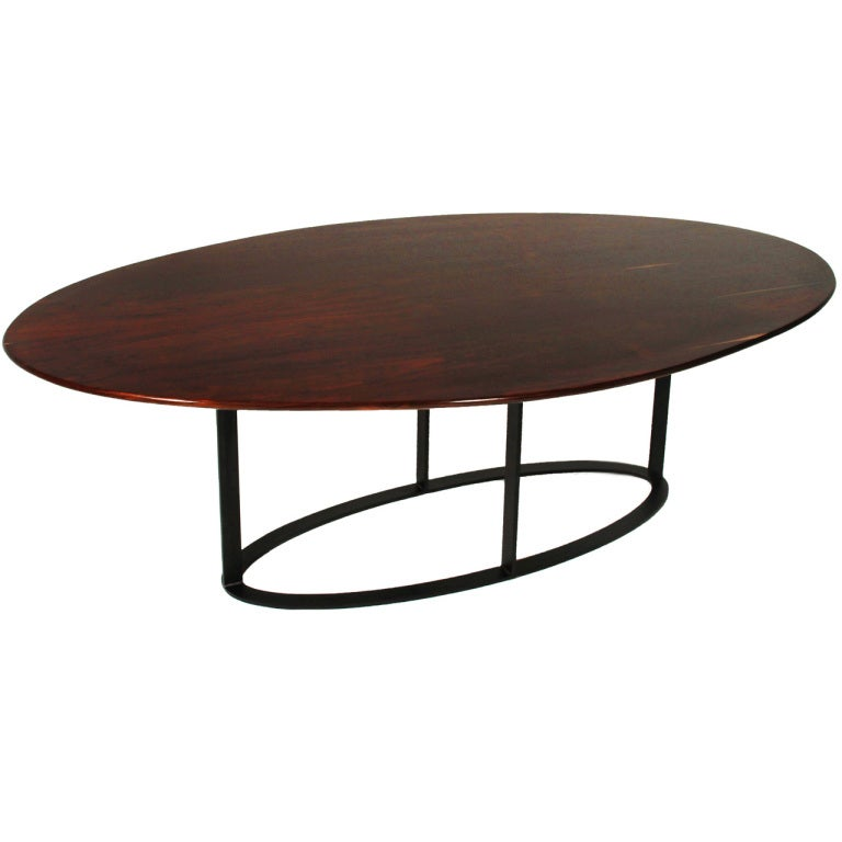 vintage oval rosewood dining table from brazil at 1stdibs