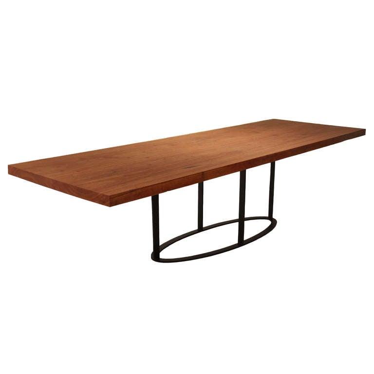 Custom Solid Cumaru Wood Dining Table By Thomas Hayes Studio Image 5