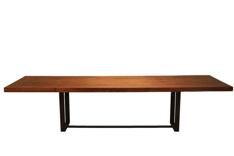 Custom solid Cumaru wood dining table by Thomas Hayes  : Solidwoodslabdiningtable1l from www.1stdibs.com size 768 x 512 jpeg 11kB