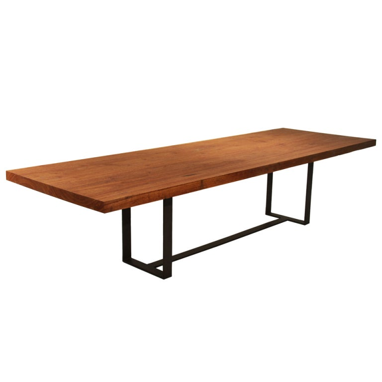 Noguchi Cyclone Table This Custom solid Cumaru wood dining table by Thomas Hayes Studio is ...