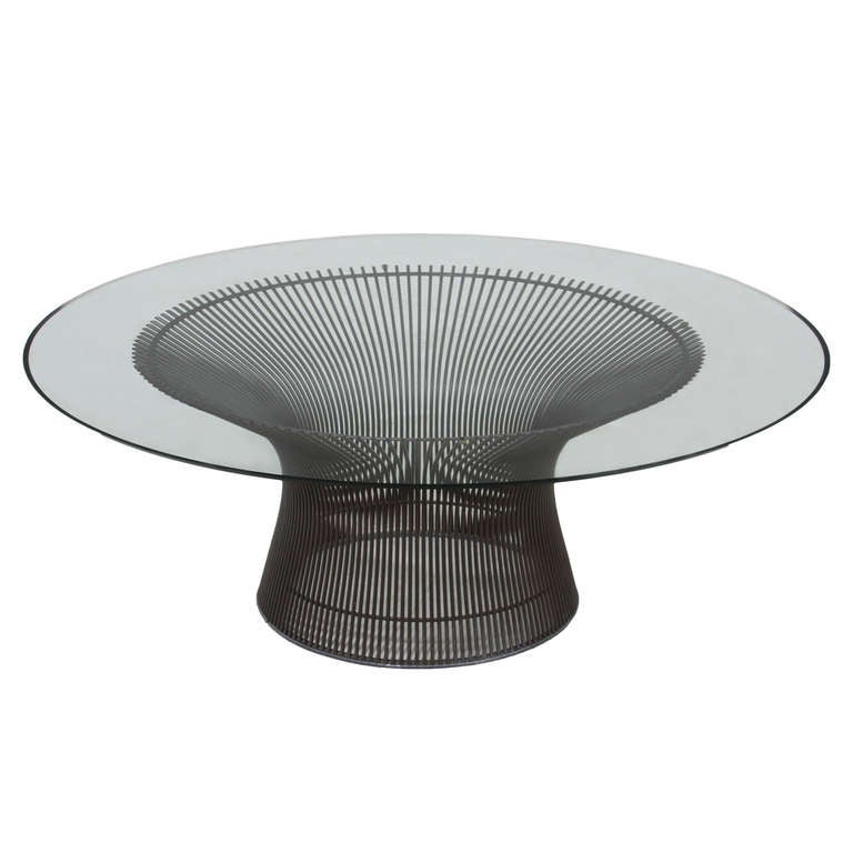 Glass And Bronze Warren Platner Coffee Table At 1stdibs