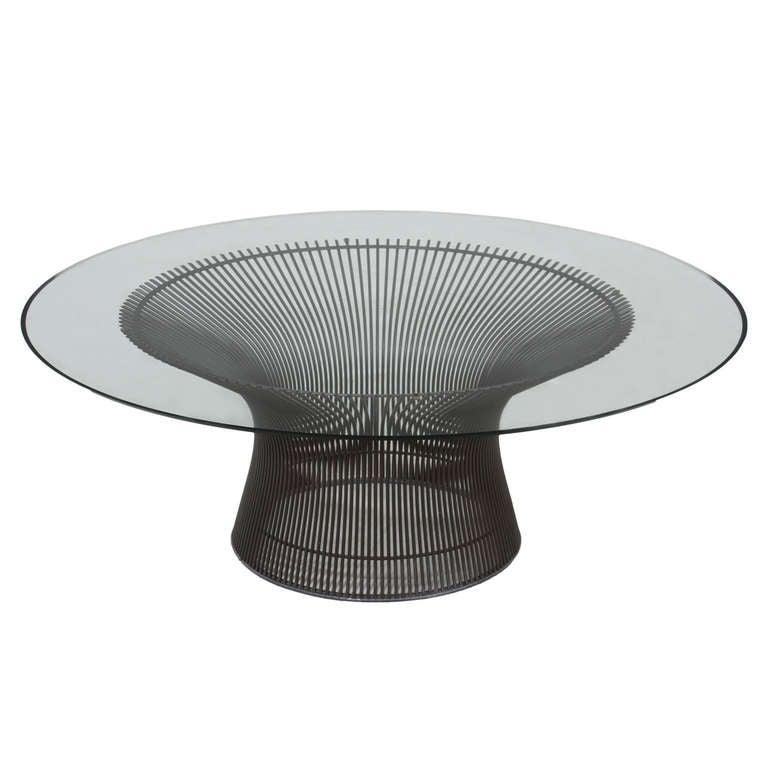 Glass and bronze warren platner coffee table at 1stdibs for Warren platner coffee table