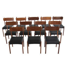 """Set of 12 """"Manchete"""" Dining Chairs by Sergio Rodrigues"""