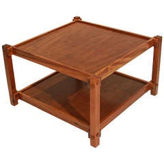 Large Scale Brazilian Peroba De Campos Side Coffee Table by Celina