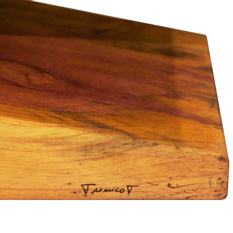 Live Edge Solid Slab Of Tamboril Coffee Table By Tunico T: Tamboril Wood Clothespin Bench Or Coffee Table By Tunico T