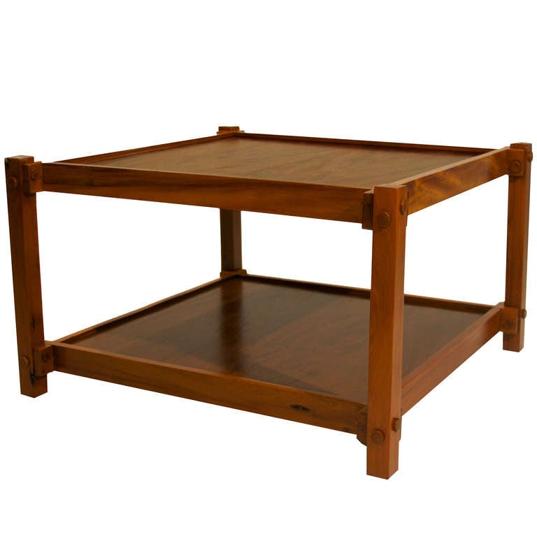 Organic modern brazilian peroba de campos wood coffee for Coffee tables under 50