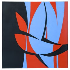 June Harwood 1974 Hard Edge Painting