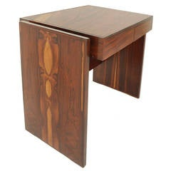 Joaquim Tenreiro Mid-Century Modern Rosewood and Glass Desk