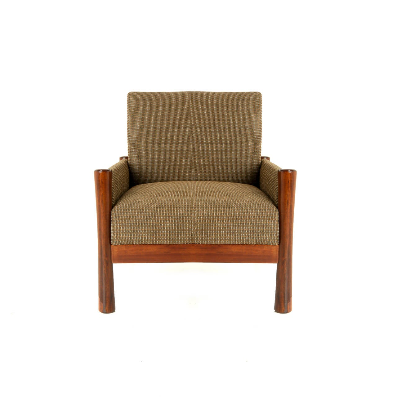 Wood Legs And Tweed Upholstered Arm Club Chair For Sale At 1stdibs. Full resolution  img, nominally Width 1280 Height 1280 pixels, img with #A94F22.