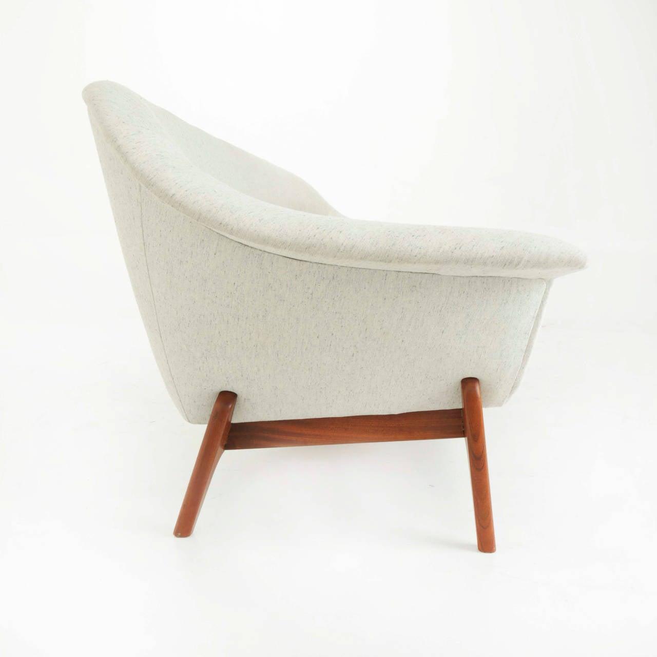 Rare Norwegian Teak and Fabric Sofa Rastad & Relling as Attribution 3