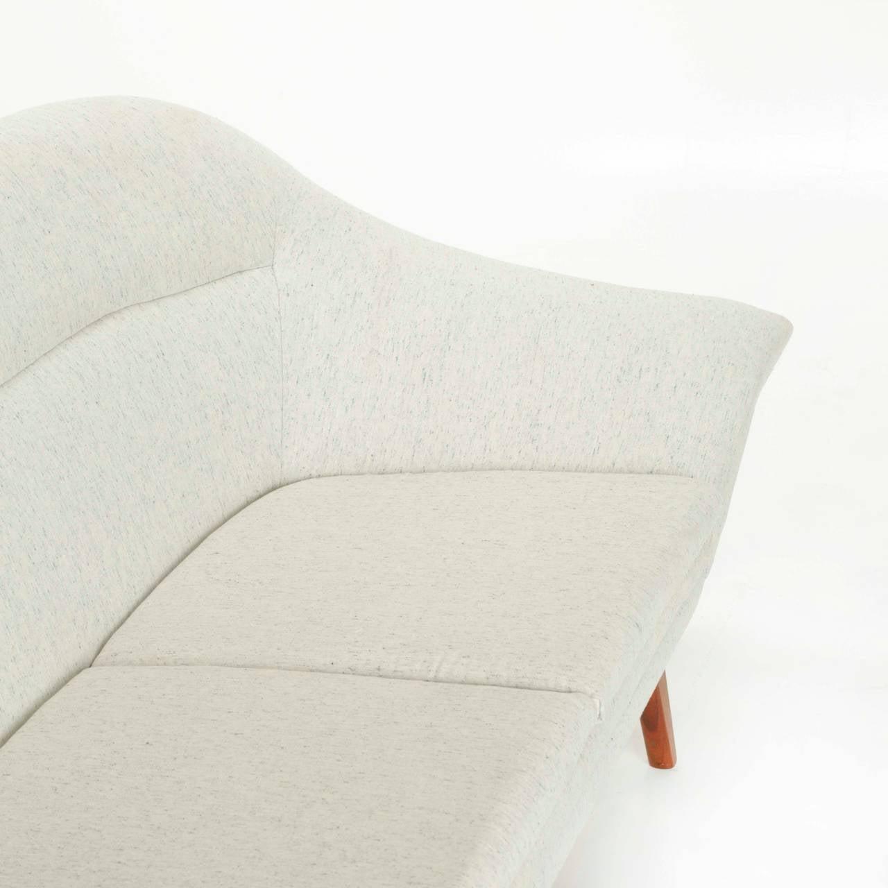 Rare Norwegian Teak and Fabric Sofa Rastad & Relling as Attribution 6