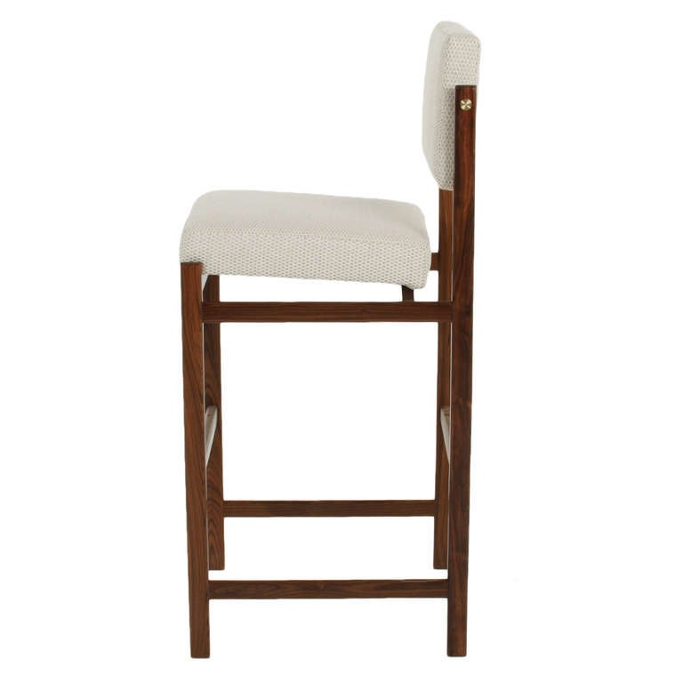 The Basic Pivot Back Bar Stool In Solid Rosewood By Thomas