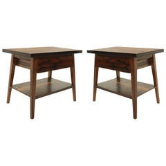 Pair of Rosewood Side Tables from Brazil