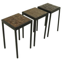 Set of Custom Earthenware Ceramic Tables by Marcel Hoessly