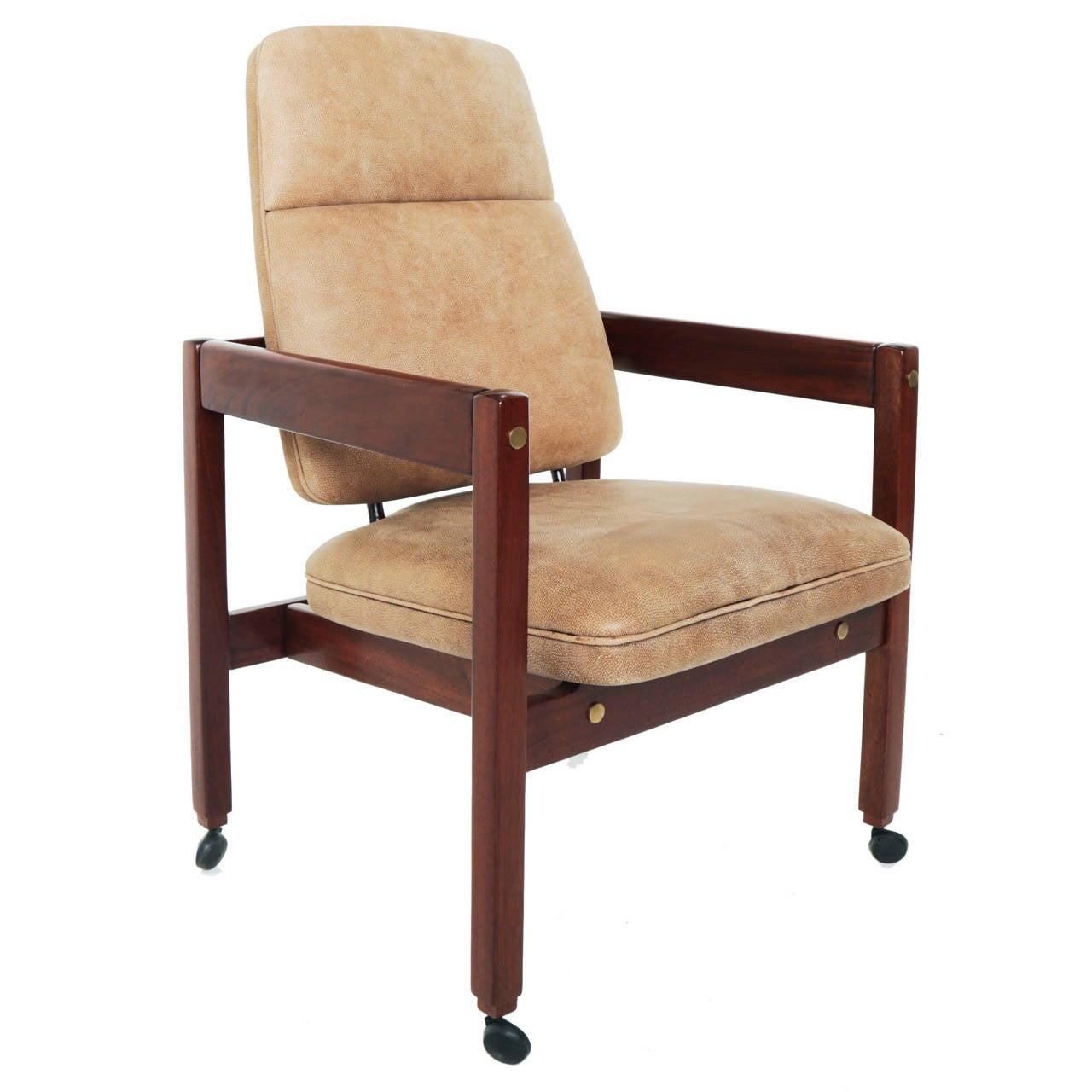 "High-Back ""Kiko"" Armchair Desk Chair by Sergio Rodrigues"