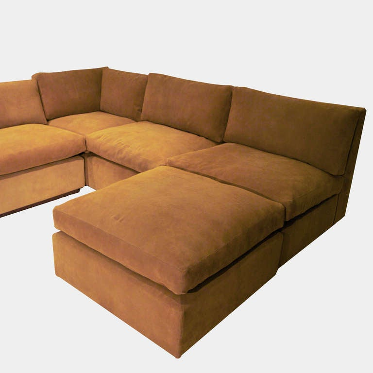 Massive sectional sofa with ottoman by thomas hayes studio for Edit 03 sofa