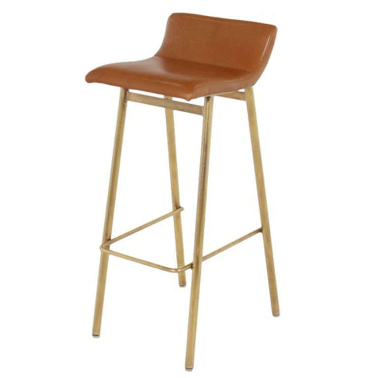 The Brass Gachot Bar Stool By Thomas Hayes Studio At 1stdibs