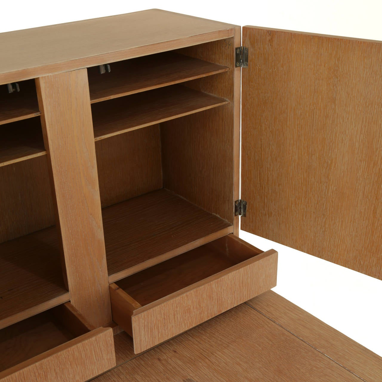 Oak Secretary Desk by Irwin with Letter Cabinet For Sale 2