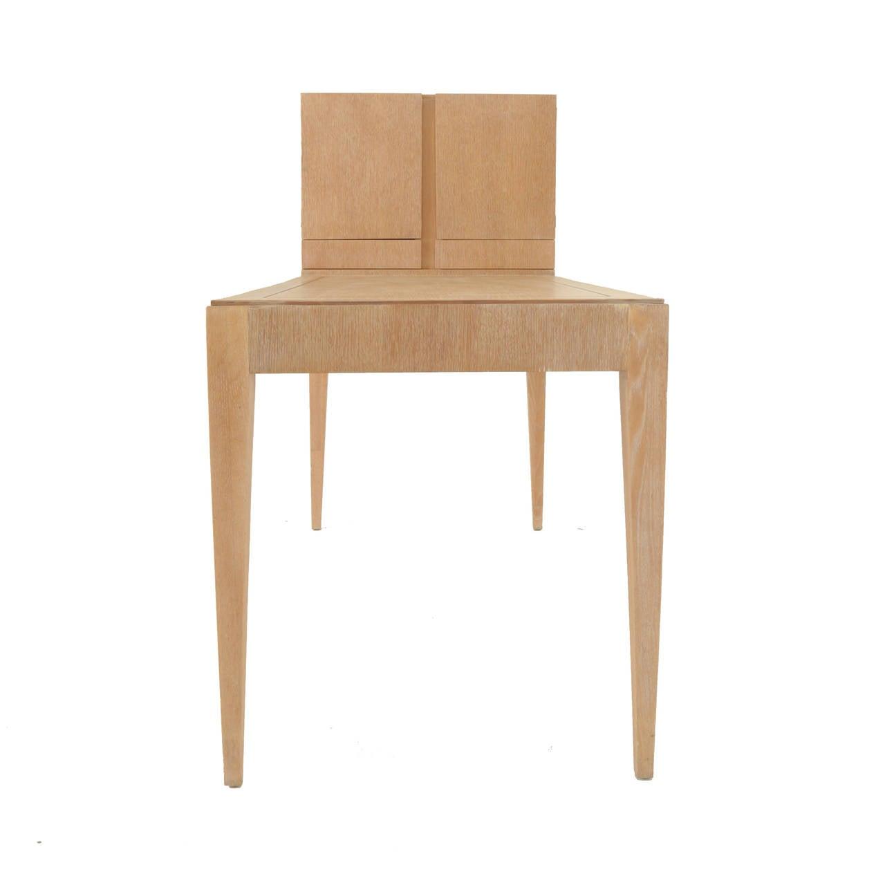 Mid-20th Century Oak Secretary Desk by Irwin with Letter Cabinet For Sale