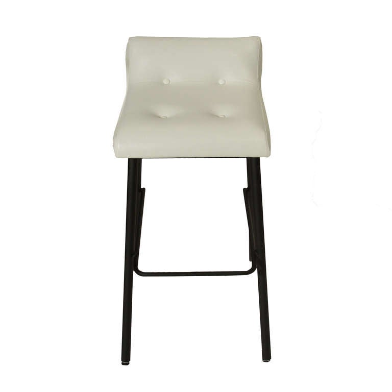 Leather And Iron Stools By Thomas Hayes Studio At 1stdibs