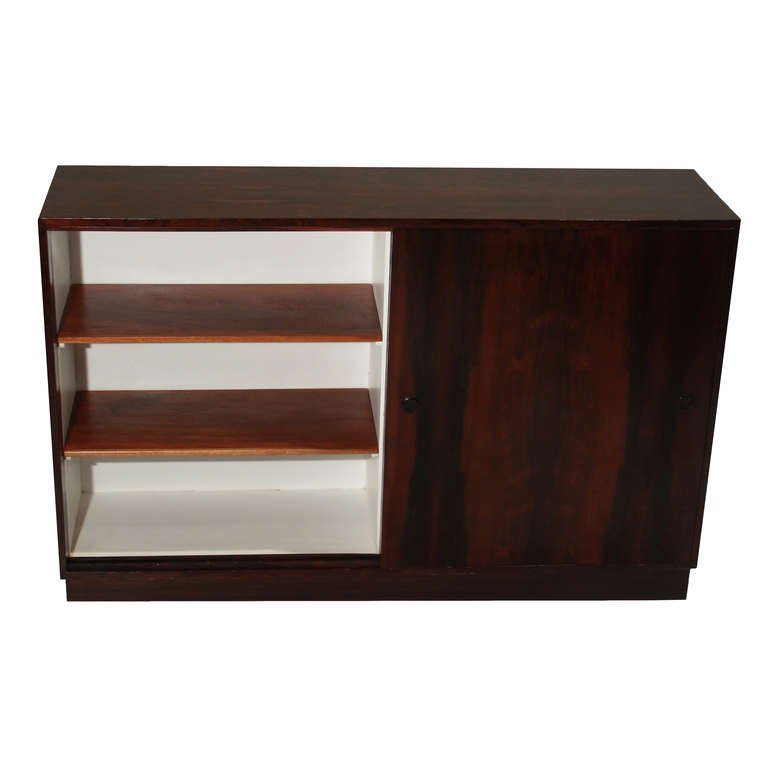 Vintage Brazilian Rosewood Cabinet With Sliding Doors 3