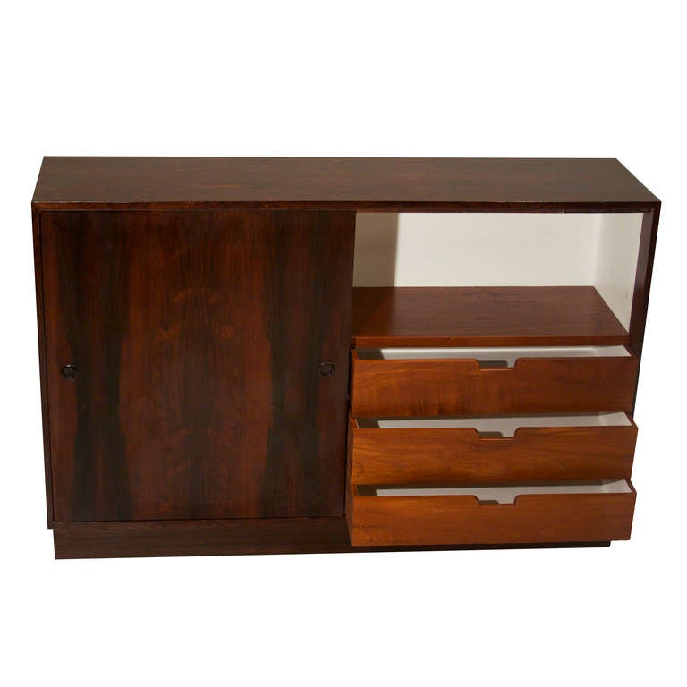 Items Similar To Vintage Brazilian Rosewood Cabinet With Sliding Doors