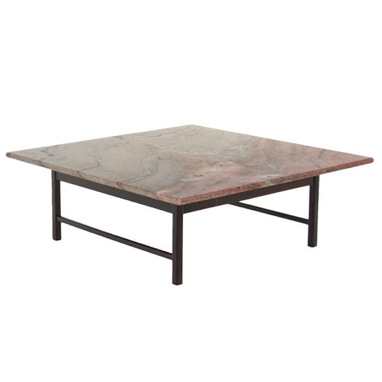 Solid Rosewood Coffee Table From Brazil With A Marble Top