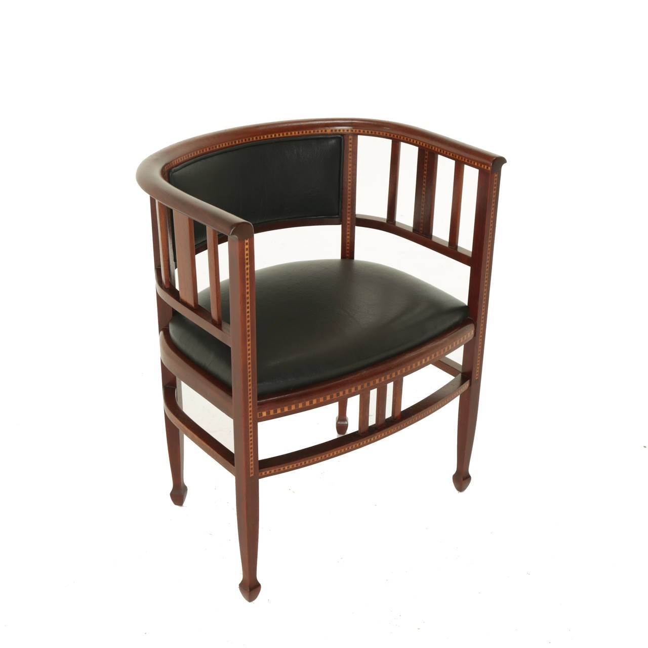Brazilian exotic hardwood chair with sculpted feet and