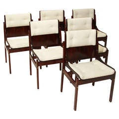 Set of 6 Rosewood dining chairs by Jorge Zalszupin for L'Atelier