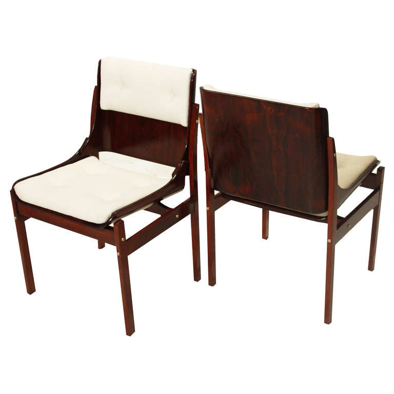 Set Of 6 Rosewood Dining Chairs By Jorge Zalszupin For L