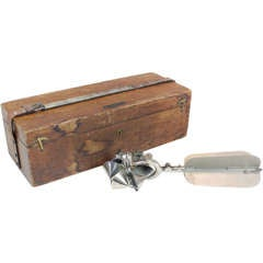 Vintage wind metering instrument or anemometer by Gurley