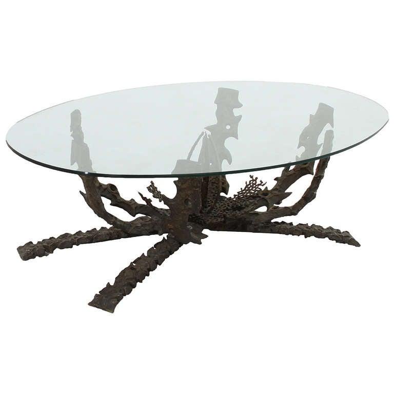 Daniel Gluck Brutalist Bronze Coffee Table