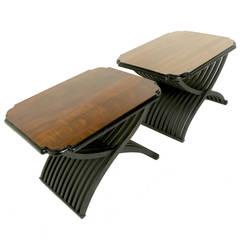 Mid-Century Modern Mechanized Sculptural Side Tables