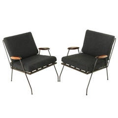 Rosewood and Iron Armchairs from Brazil Attributed to Martin Eisler