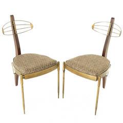 Brazilian Mid-Century Modern Three-Legged Chair, by Pedro Useche