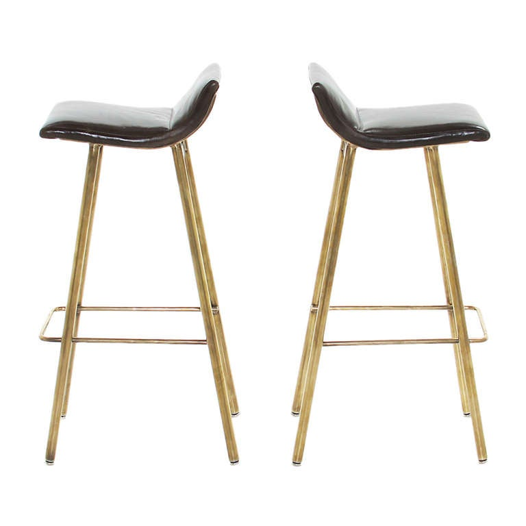 Brass Gachot Bar Stool By Thomas Hayes Studio For Sale At