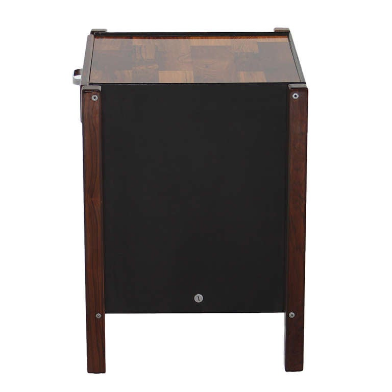 Brazilian Patchwork Rosewood Side Table by Jorge Zalszupin For Sale