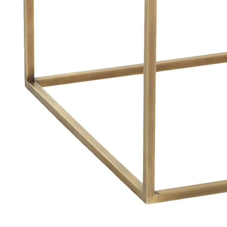 Brass Kerry Side Table by Thomas Hayes Studio For Sale