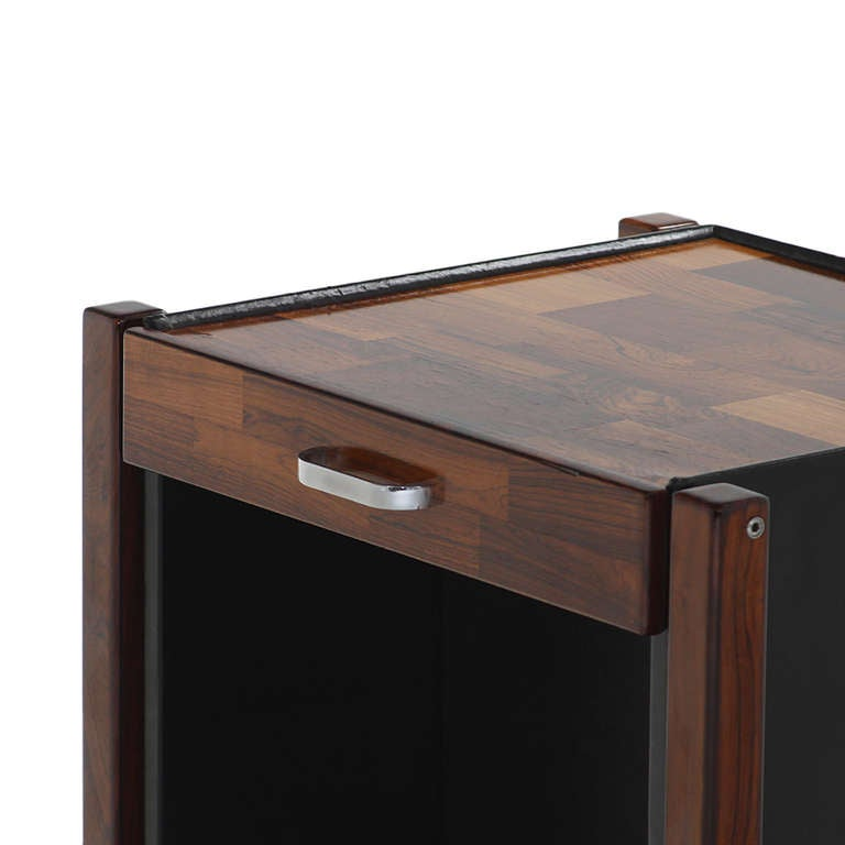 Mid-20th Century Patchwork Rosewood Side Table by Jorge Zalszupin For Sale
