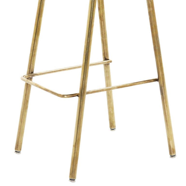 Brass Gachot Bar Stool by Thomas Hayes Studio For Sale at  : 7l from www.1stdibs.com size 768 x 768 jpeg 26kB