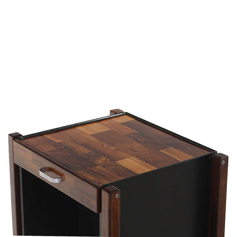 Patchwork Rosewood Side Table by Jorge Zalszupin For Sale 1