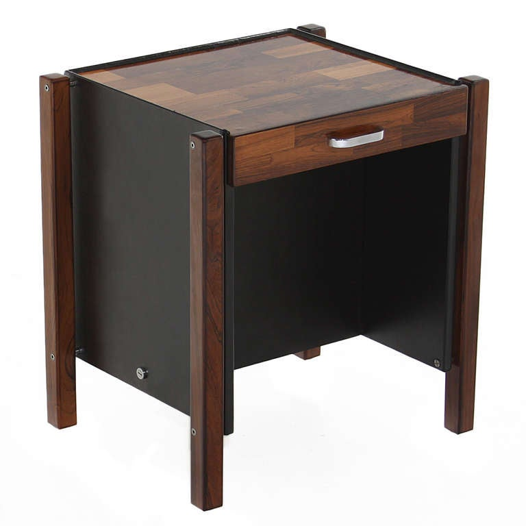 Patchwork Rosewood Side Table by Jorge Zalszupin For Sale