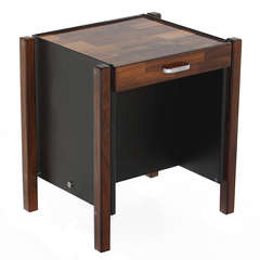 Patchwork Rosewood Side Table by Jorge Zalszupin