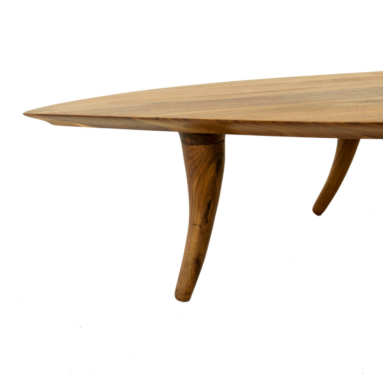 Sculptural walnut coffee table with curved legs at 1stdibs for Center table legs