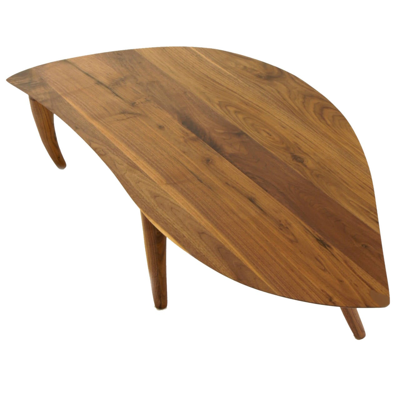 Sculptural Walnut Coffee Table With Curved Legs At 1stdibs