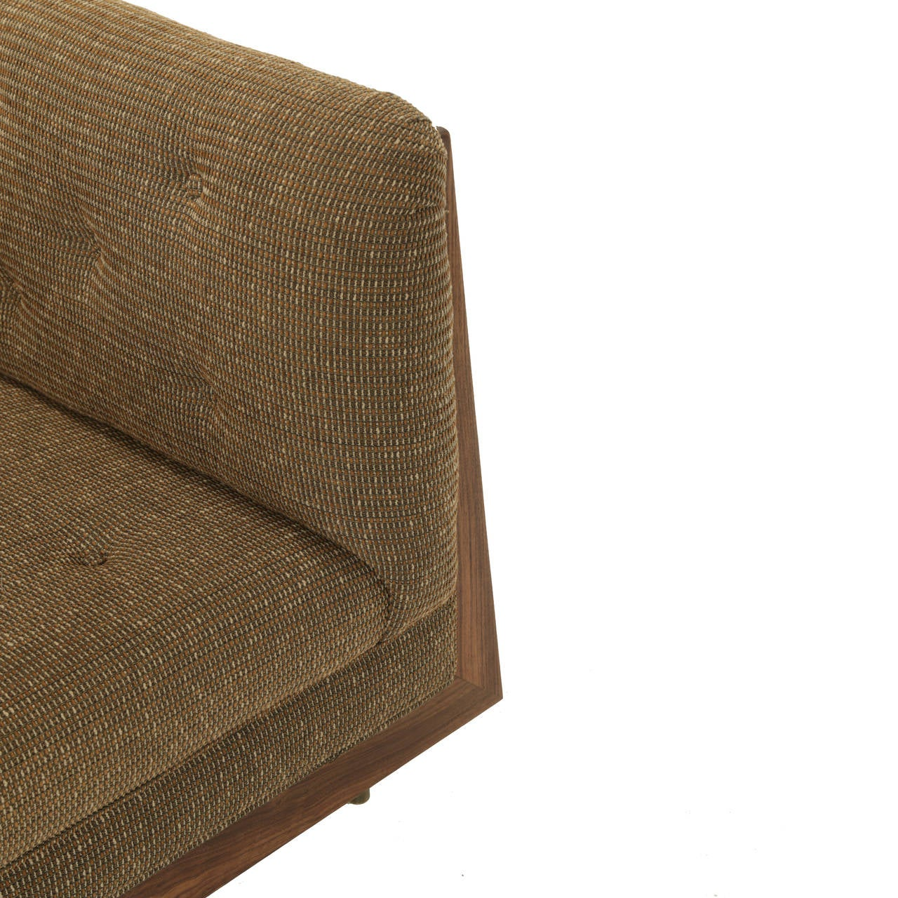 Famechon Sofa With Channeled Back And Seat Walnut Legs: Hannah Sofa With Walnut Spines And Bronze Legs By Thomas