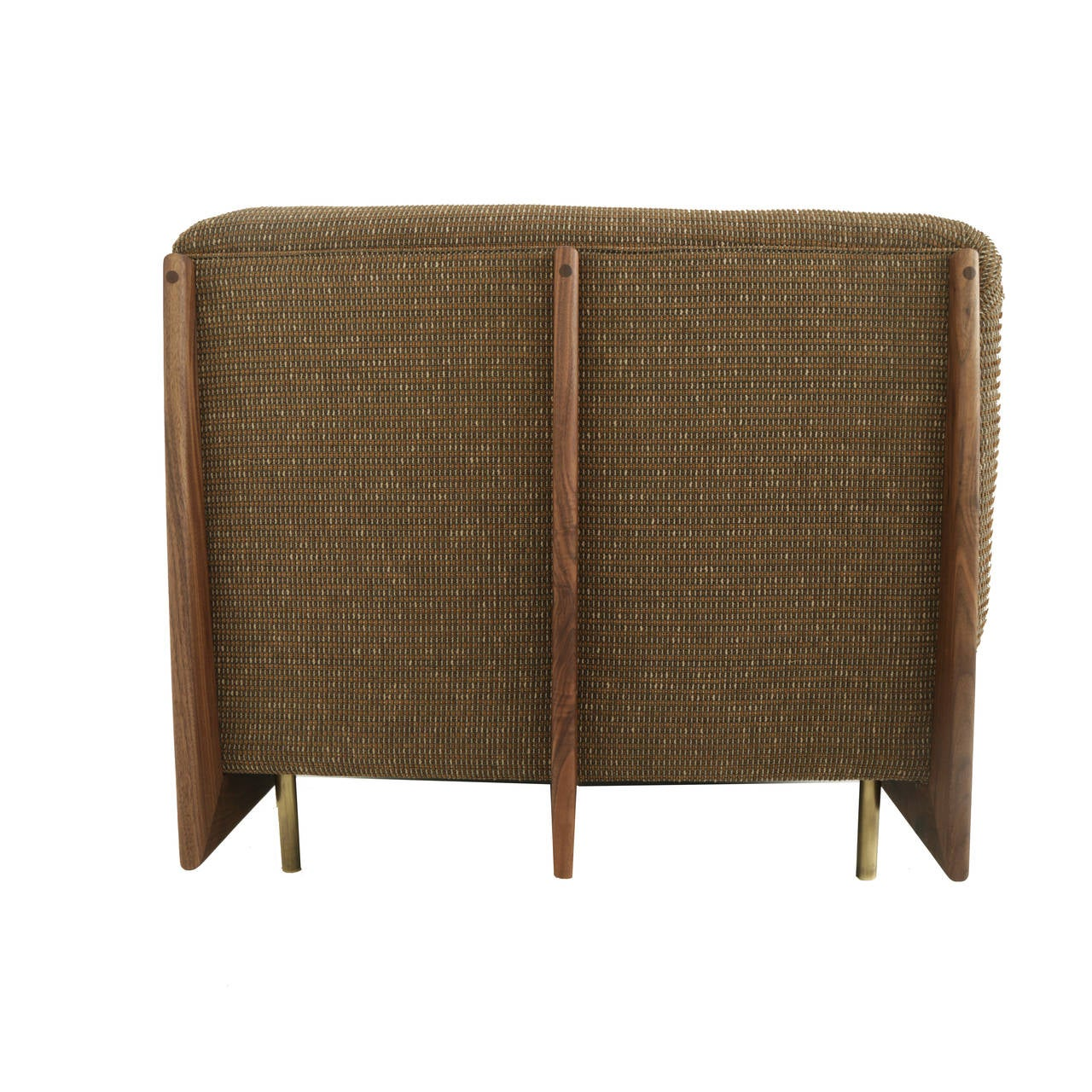 Contemporary Hannah Sofa with Walnut Spines and Bronze Legs by Thomas Hayes Studio For Sale