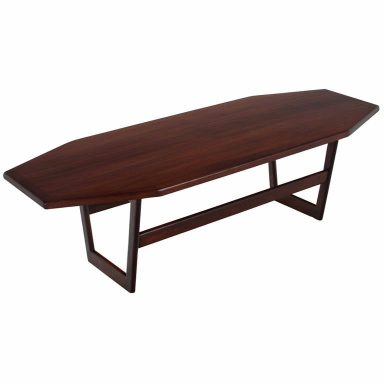 Geometric Solid Mahogany Coffee Table At 1stdibs