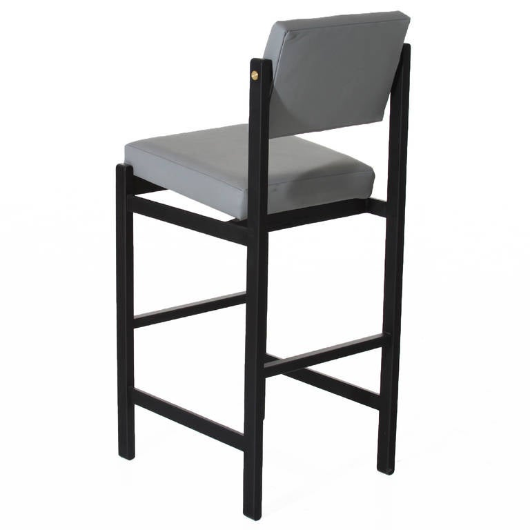 The Basic Pivot Back Bar Stool In Black Steel By Thomas