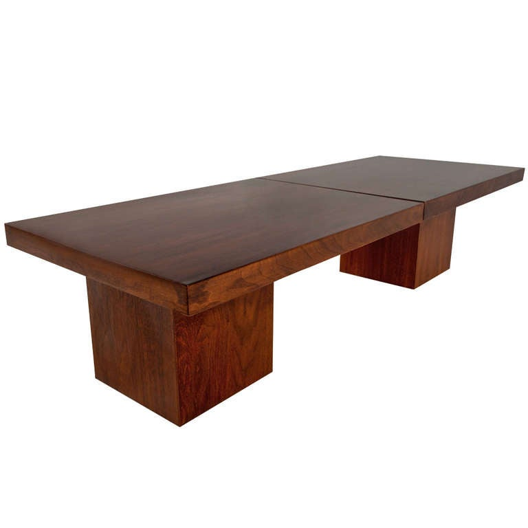 Simple Extendable Walnut Coffee Table By John Keal Design For Sale At 1stdibs